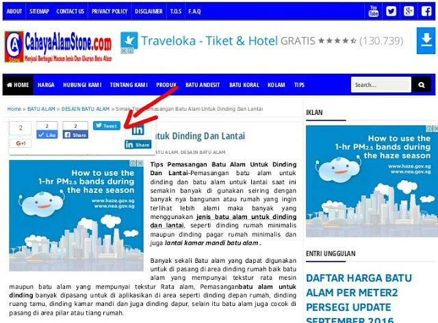 Tips Cara Memperbaiki Tombol Share Button Error Di Template Evo Magz Dan Fastest Magz